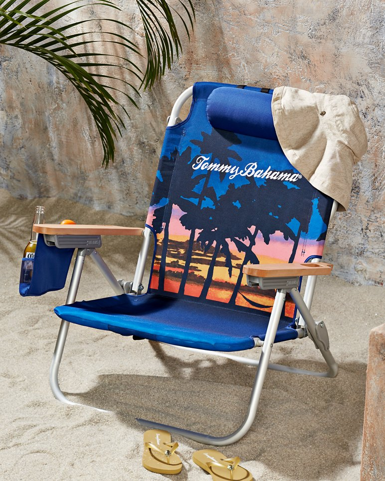Sunset Palms Deluxe Backpack Beach Chair