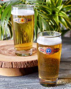 Cigar Band Pilsner Glasses - Set of Two