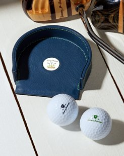 Leather Putting Cup and Golf Balls Set