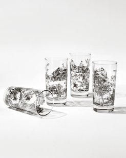 Toile Glasses - Set of Four