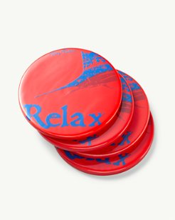 Relax Ceramic Coasters - Set of 4