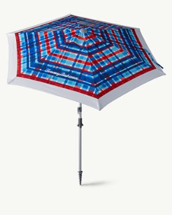 Plaid Print Deluxe 7-foot Beach Umbrella