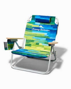 Brushstroke Stripe Deluxe Backpack Beach Chair