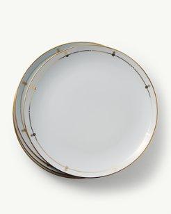 Pineapple Border Porcelain Dinner Plates - Set of 4