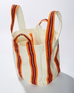 Wide-Stripe Beach Bag