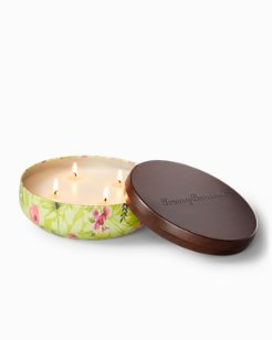 Paradise Blends 4-Wick Printed Tin Candle