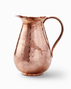 Etched Marlin Copper Pitcher