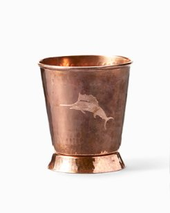 Etched Marlin Copper Mint Julep Cup