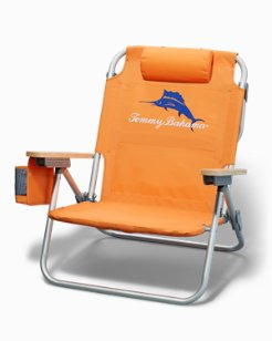 Marlin Logo Beach Chair