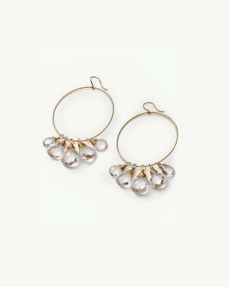 Main Image for Crystal Hoop Earrings