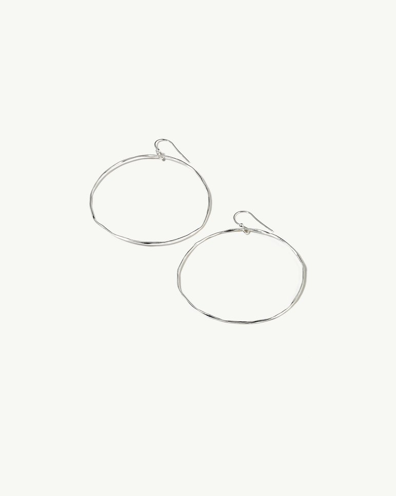Main Image for Wide Silver Hoop Earrings