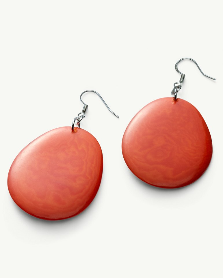 Main Image for Tagua Seed Disc Drop Earrings