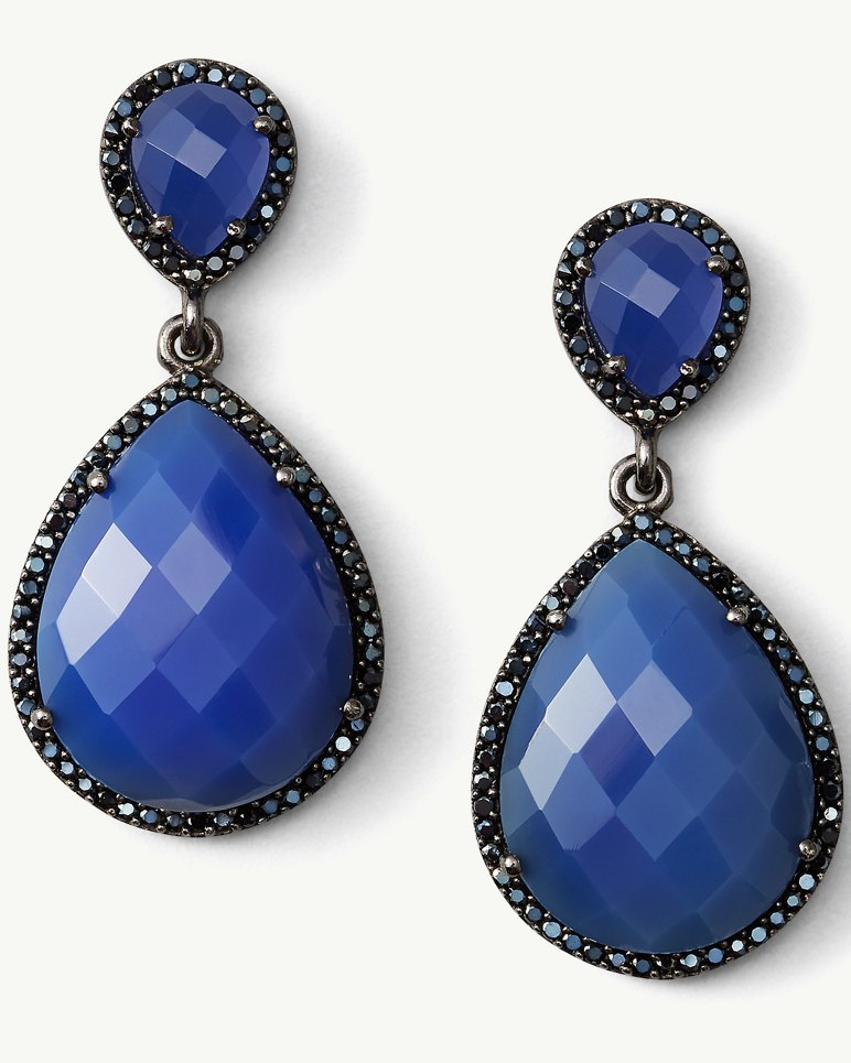 Main Image for Deep Space Chalcedony Drop Earrings