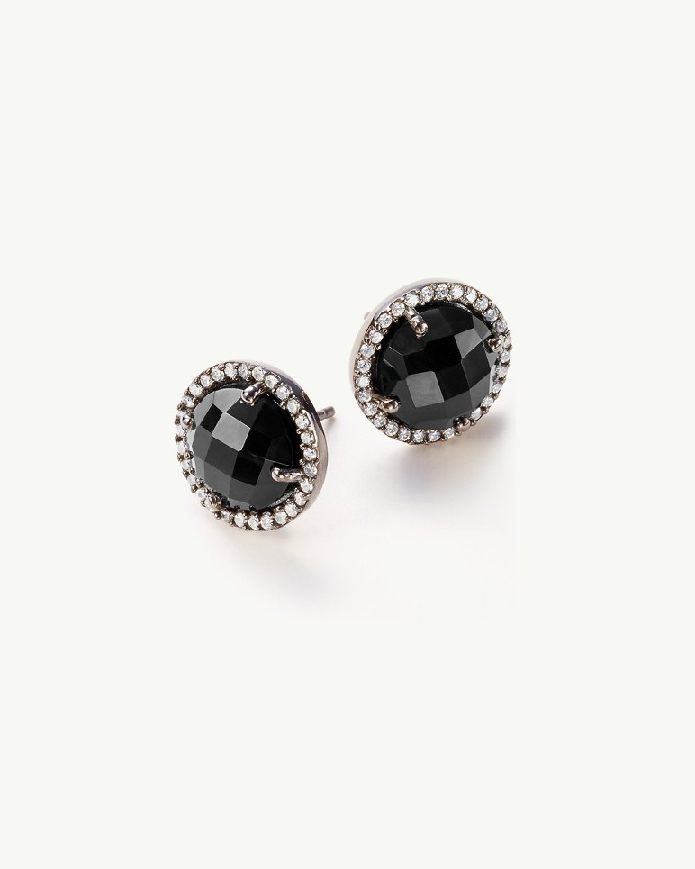 Main Image for Onyx & Cubic Zirconia Stud Earrings