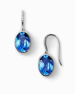 Swarovski® Oval Stone Drop Earrings