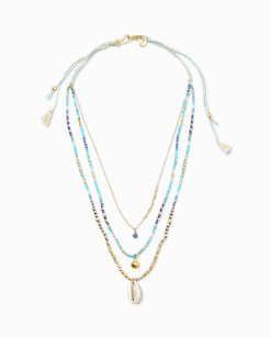 Chan Luu® Triple-Strand Cowrie Necklace