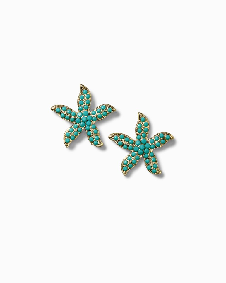 Main Image for Turquoise-Tone  Starfish Post Earrings