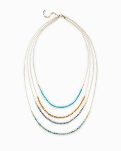 Graduated Turquoise-Tone Necklace