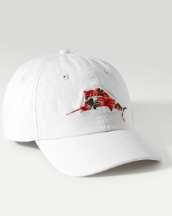 Floral Marlin Baseball Cap