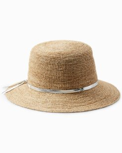 Simple Sun Hat with Silver Drawstring