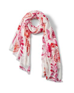 Florals Falling Sequin Scarf