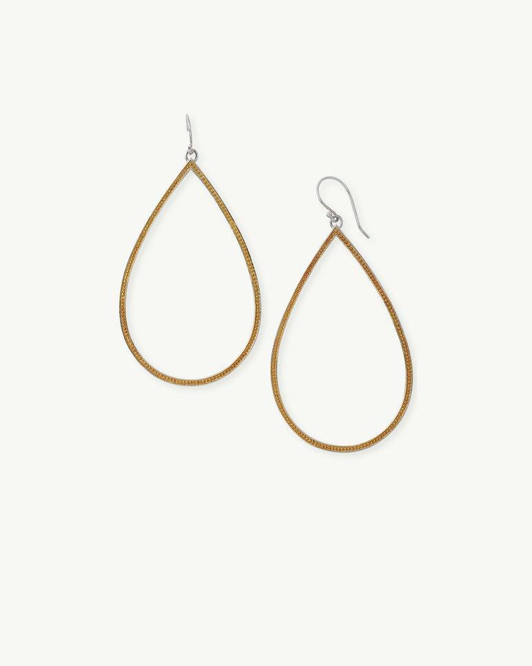 Main Image for Teardrop Hoop Earrings