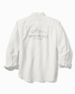 Waikiki Sea Glass Breezer Linen Shirt