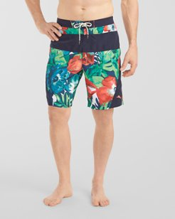 Baja Paradise Poppies 9-inch Board Shorts