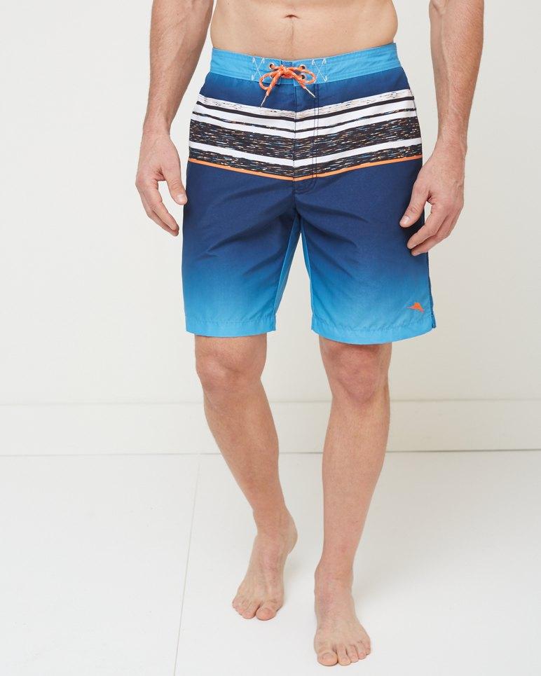 Baja Island Striped 9 Inch Board Shorts