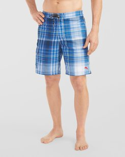 Baja Sail Away Plaid 9-inch Board Shorts