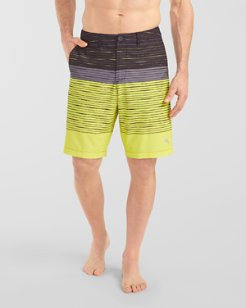 Cayman Sunward Striped 9-inch Hybrid Board Shorts