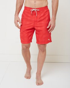 Baja Plaid 9-inch Board Shorts