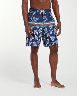 Baja Seleron Stripe 9-Inch Board Shorts