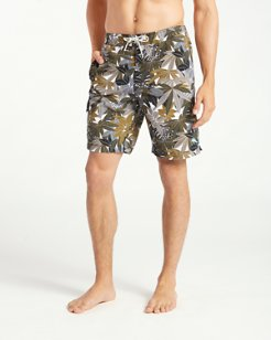 Baja Lime Fronds 9-Inch Board Shorts