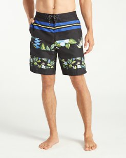 Baja Block Party Stripe 9-Inch Board Shorts