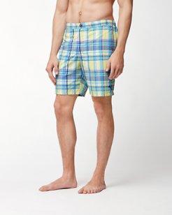 Coasta Who's Your Plaidy 7-Inch Swim Trunks