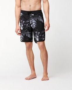 Pacific Palm Noir 9-Inch Board Shorts