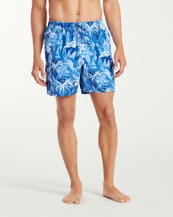 Naples Oasis Blooms 6-Inch Swim Trunks