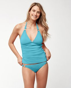 Pearl Halter Tankini With Rings