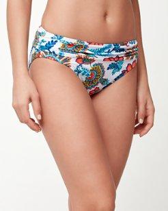Fira Floral High-Waist Sash Bikini Bottoms