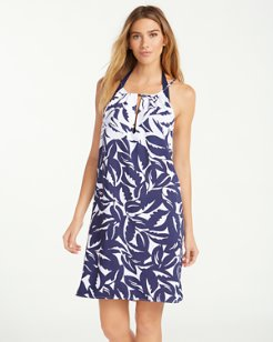 Graphic Jungle High-Neck Dress