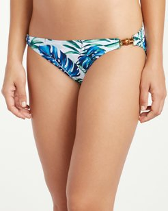 Fronds Floating Hipster Bikini Bottoms with Bamboo Trim