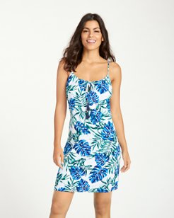 Fronds Floating Tie-Front Dress
