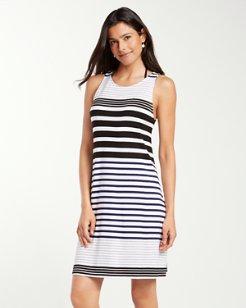Stripe High-Neck Dress