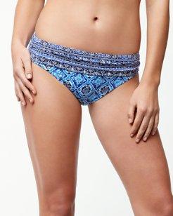 Tika Tiles High-Waist Sash Bikini Bottoms