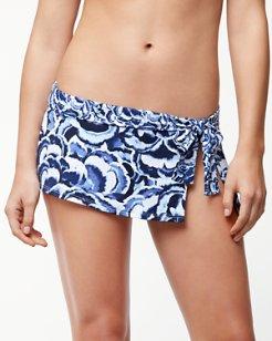 Pansy Petals Skirted Hipster Bikini Bottoms