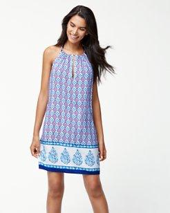 Majorelle Jardin High-Neck Dress