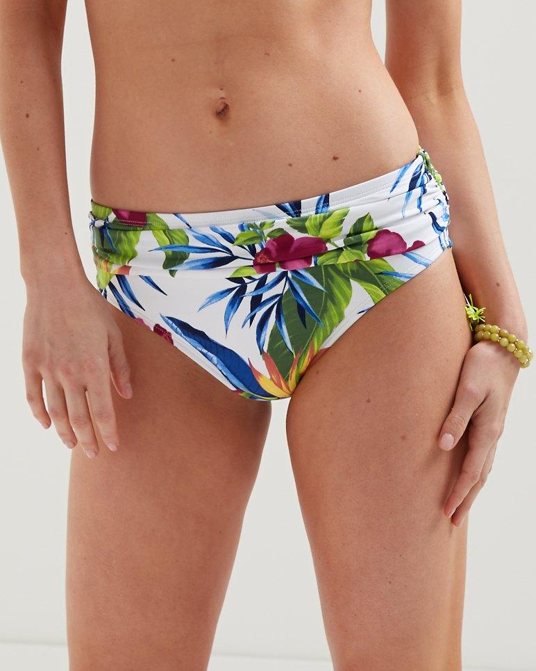 Happy Hibiscus High Waist Bikini Bottoms