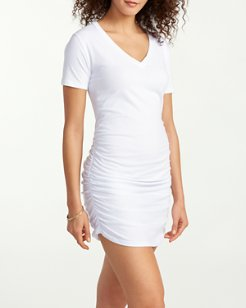Knit V-Neck T-Shirt Dress
