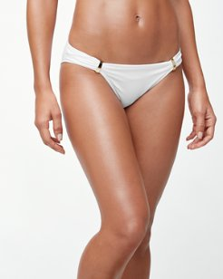 Pearl Hipster Bikini Bottoms With Hardware